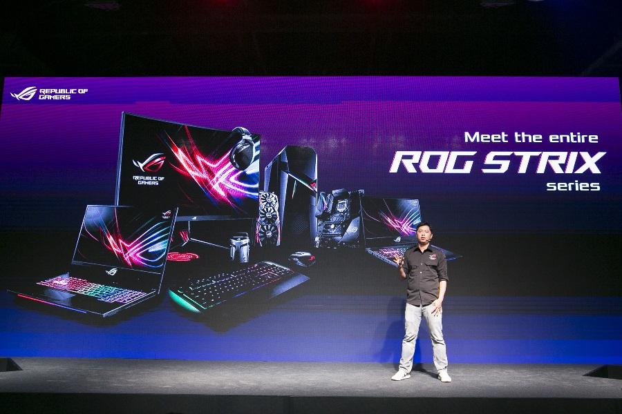 ROG發表會上亦展示全系列ROG STRIX系列產品