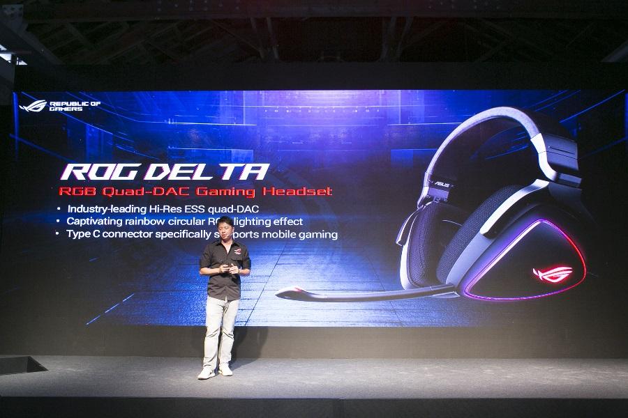 ROG Delta電競耳機,可透過USB Type-C與ROG Phone連線,更為世界首款配備ESS quad-DAC的電競耳機