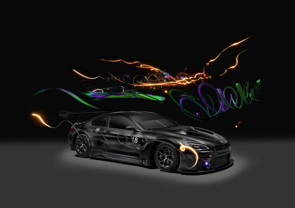 由曹斐所創作的 M6 GT3 Art Car 需要透過 AR 技術才能見其全貌