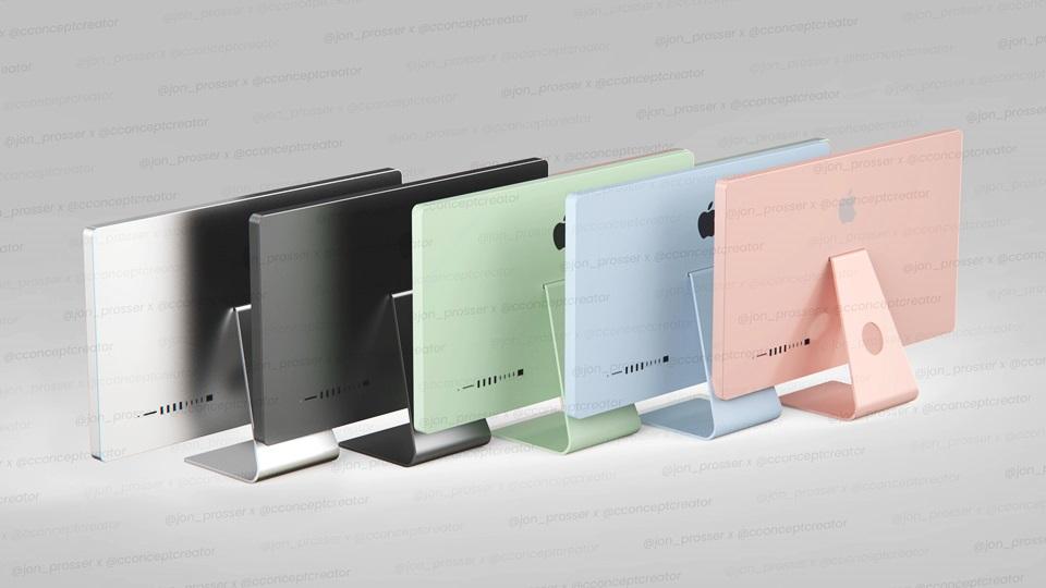 知名爆料達人Jon Prosser透露,蘋果正在對 2021 iMac 進行大改版,一口氣推出5種繽紛色彩