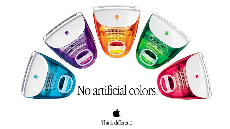 1998 年 5 月 6 日透明外殻、一體式桌面電腦 iMac G3橫空出世,活潑繽紛的設計徹底改變大家對「電腦」的觀感